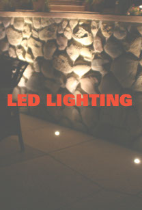 Warm white LED wall washed retaining wall